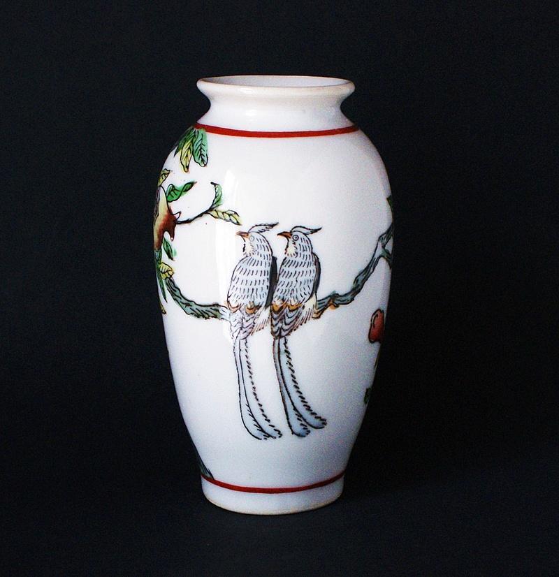 Japanese Vase - Love Birds - Pomegranates  Dsc03512