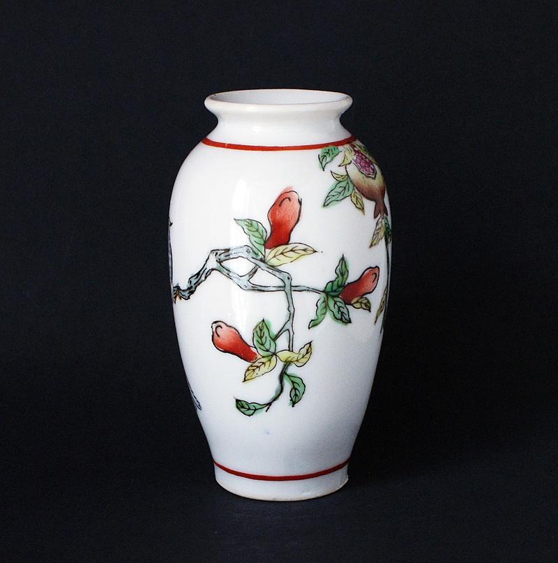 Japanese Vase - Love Birds - Pomegranates  Dsc03515