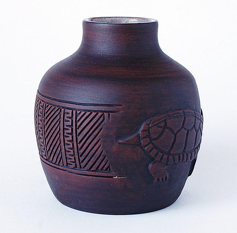 Pottery Vase - Turtle Motto. Dsc03528