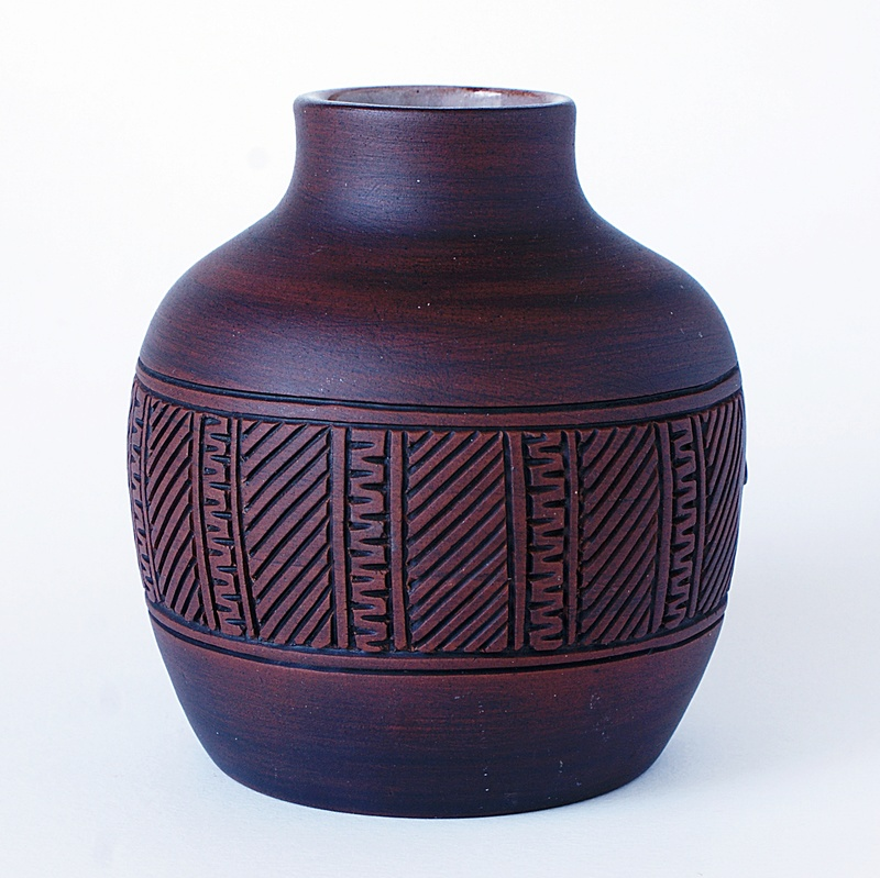 Pottery Vase - Turtle Motto. Dsc03529