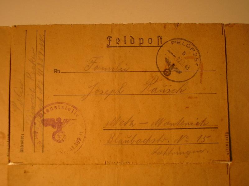 identification ou localisation du Feldpostnummer Img_7522