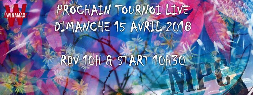 Inscriptions pour le Tournoi du 15 Avril 2018 Annonc21