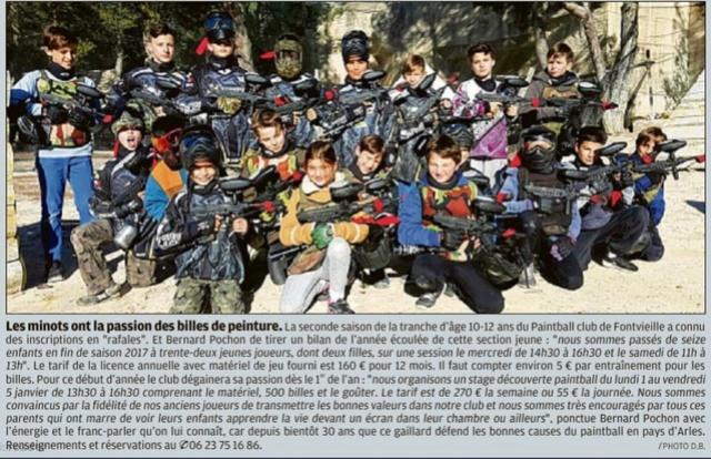 Article Presse / Les minots de Fonvieille (France / 13) Articl11
