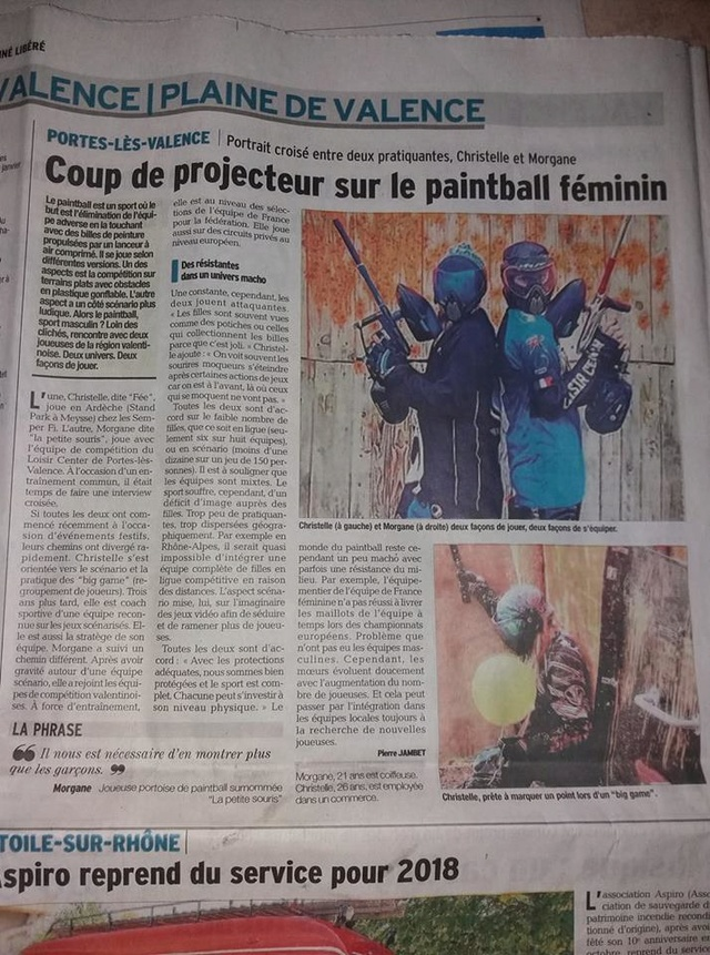 Article Presse / Paintball Féminin (France / 26) Articl12