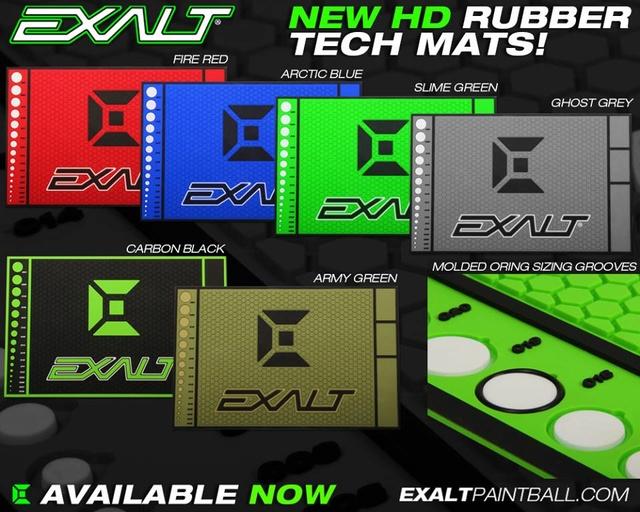 Exalt New HD Rubber Tech Mats Exaltt10