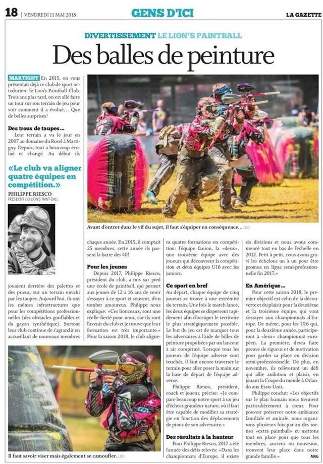 Article Presse: Lion's Martigny (Suisse) Lionga10