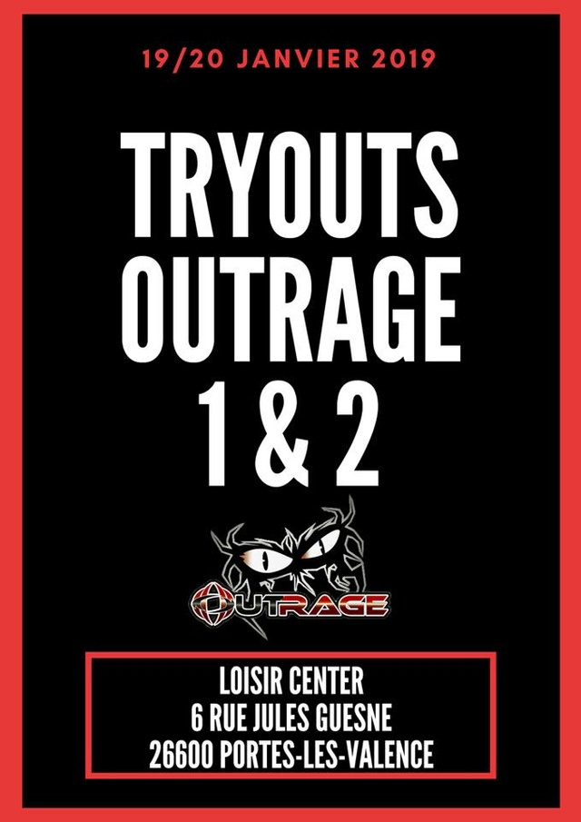 Outrage Valence 1 & 2 Tryout (France / 26) Outrag11