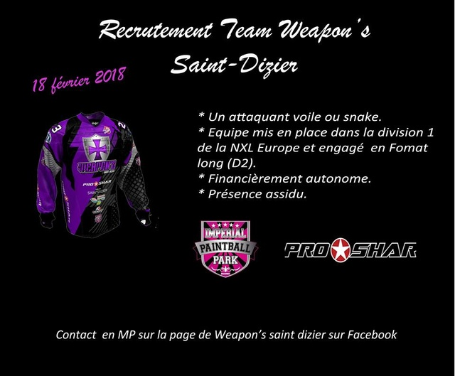 Recrutement Weapon's Saint Dizier (France / 52) Recrut12