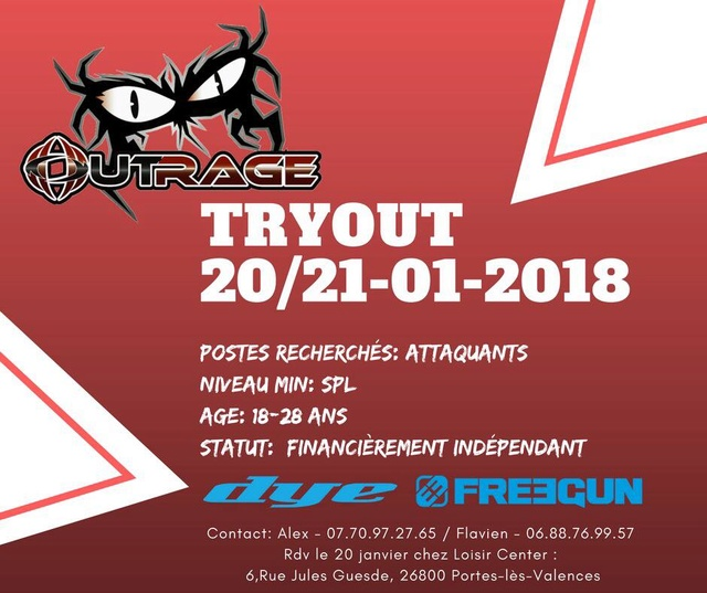 Tryout (Recrutement) Outrage Valence (France / 26) Tryout12