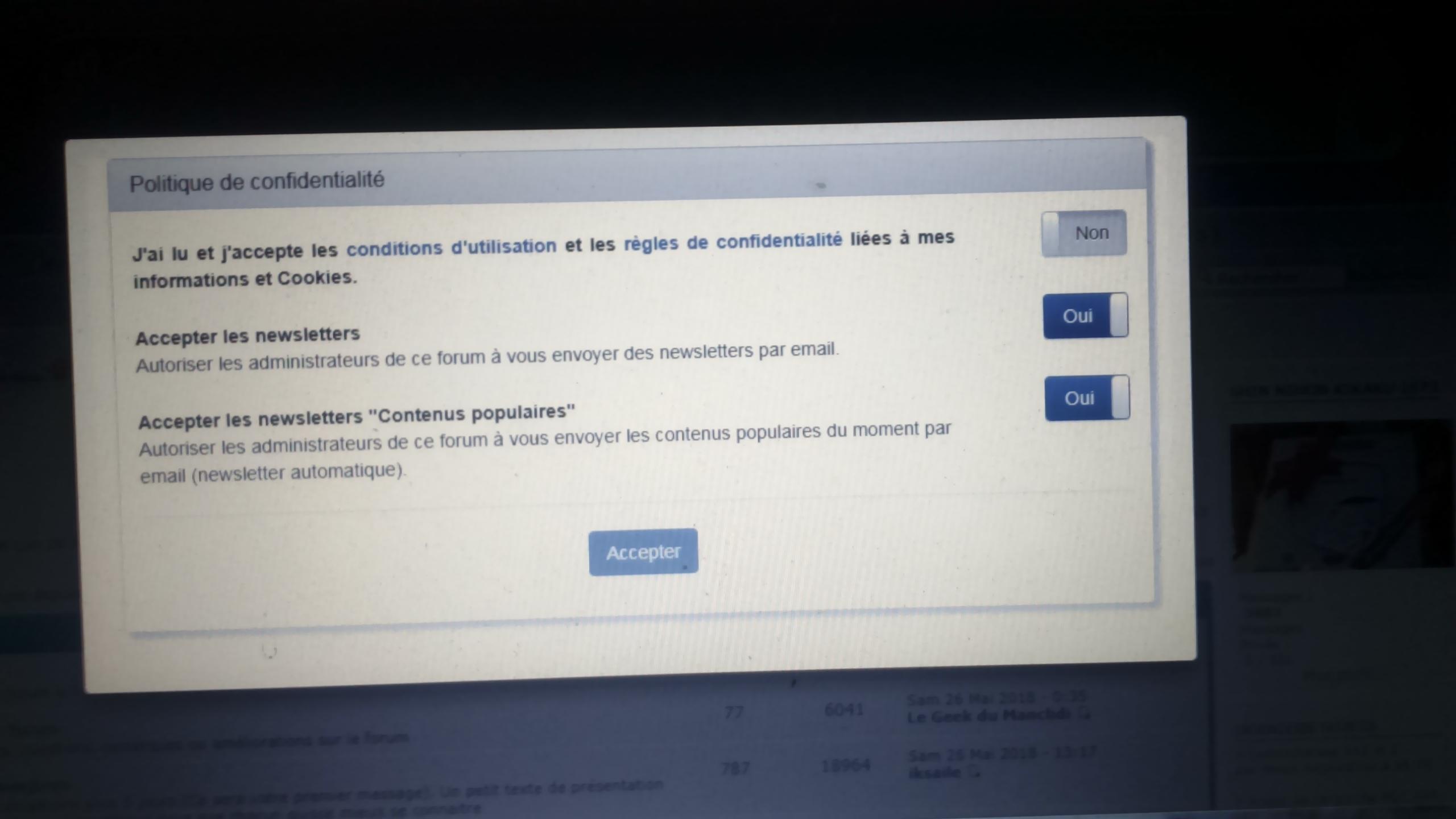 condition général d 'utilisation forum active c ' est quoi ????? sur le forum Dsc_0993
