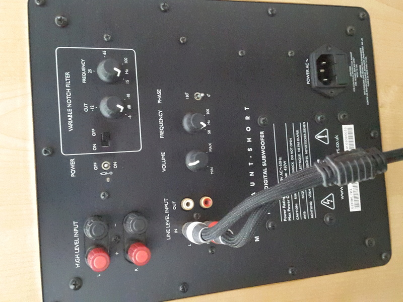 Mordaunt Short MS909W Subwoofer-Used & In New Condition-Made in England Model 20160617