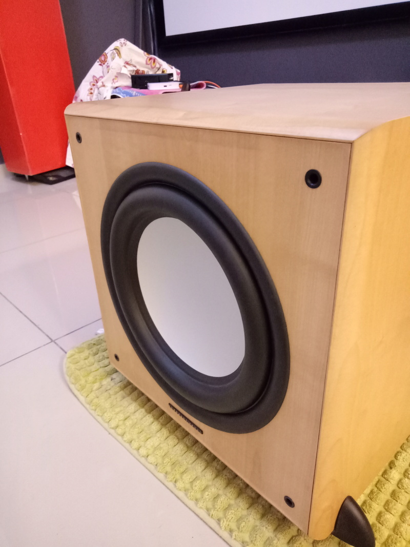 Mordaunt Short MS909W Subwoofer-Used & In New Condition-Made in England Model Img20138