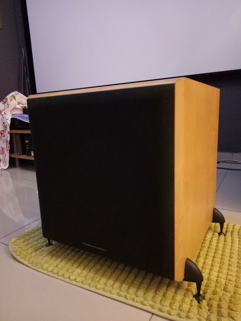 Mordaunt Short MS909W Subwoofer-Used & In New Condition-Made in England Model Img20139