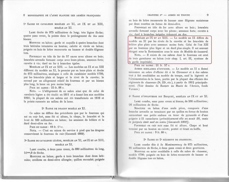 Différences entre le sabre AN IX et les modèles AN XI et AN XIII. An_ix_10