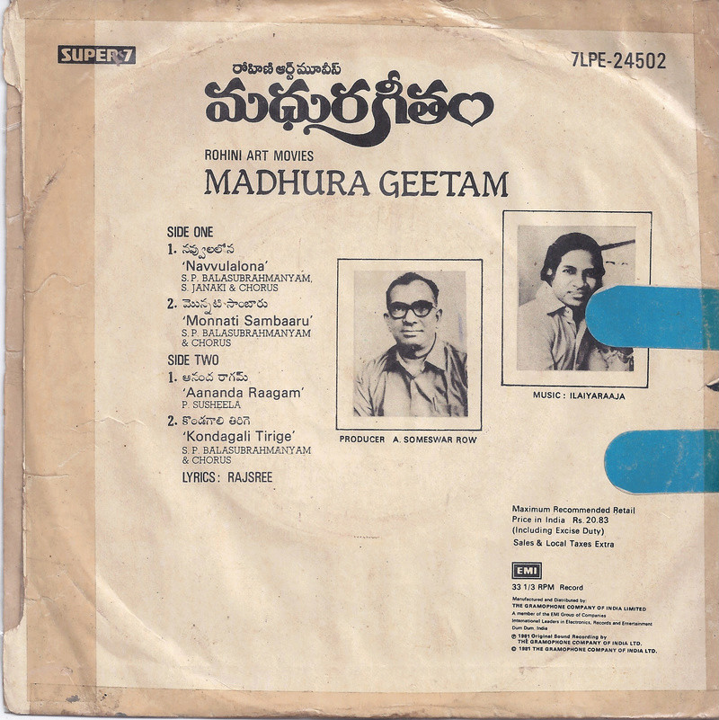 IR's other language (i.e. non-Thamizh) audio sleeve pics - Page 3 Madhur10