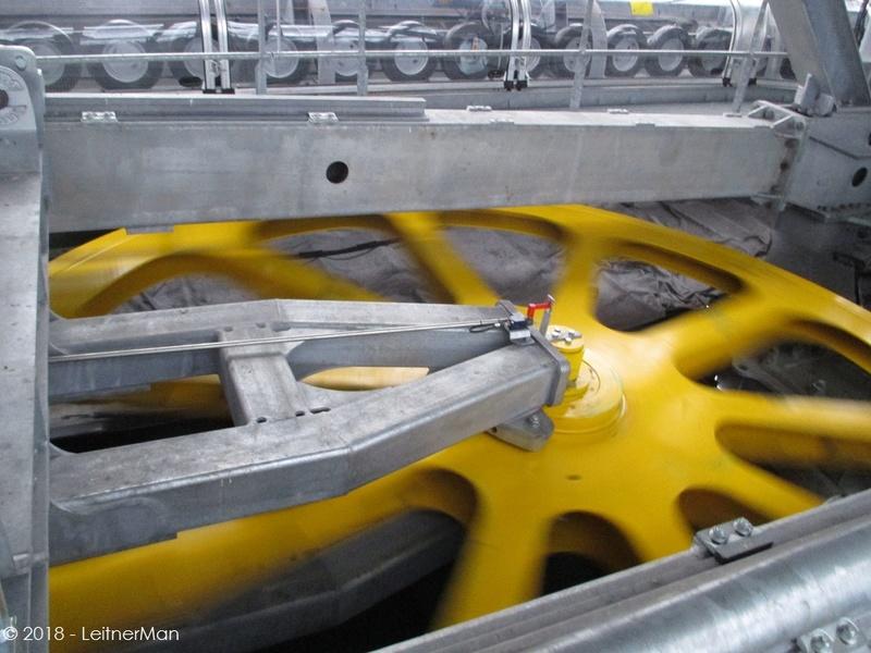 Gare tension télésièges débrayables Leitner 1012