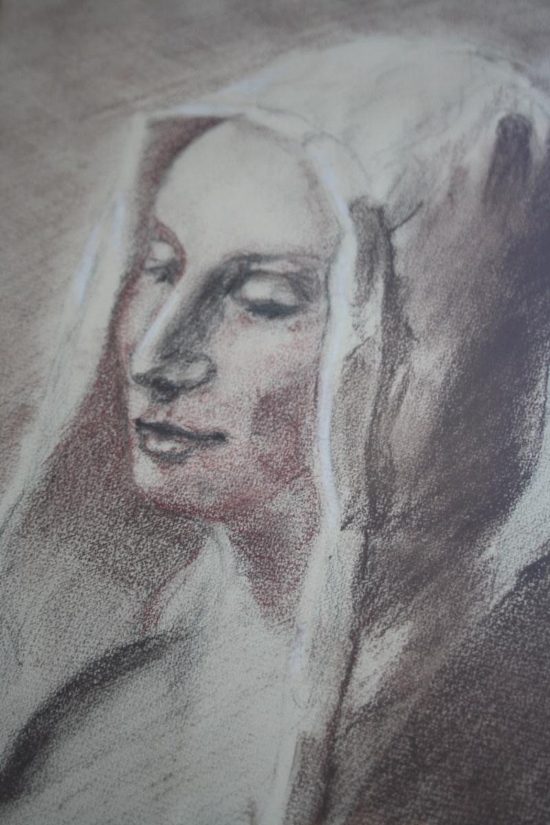 Dessin trois crayons - portrait de jeune femme Img_1811
