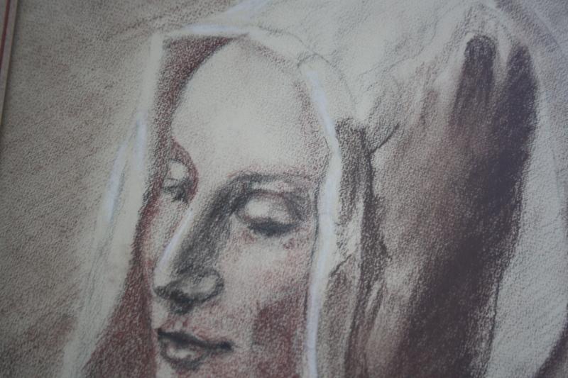 Dessin trois crayons - portrait de jeune femme Img_1813