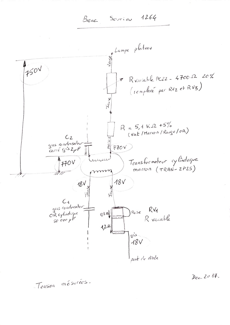Banc Souriau et condensateurs Schema10