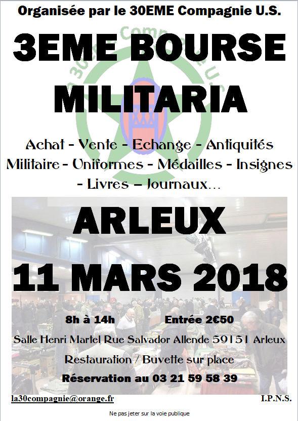 BOURSE MILITARIA D'ARLEUX 11 MARS 2018 Affich10