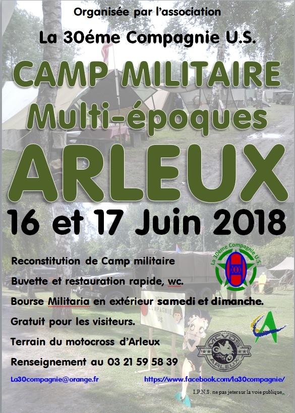 CAMP D'ARLEUX LE 16 ET 17 JUIN 2018 Affich12