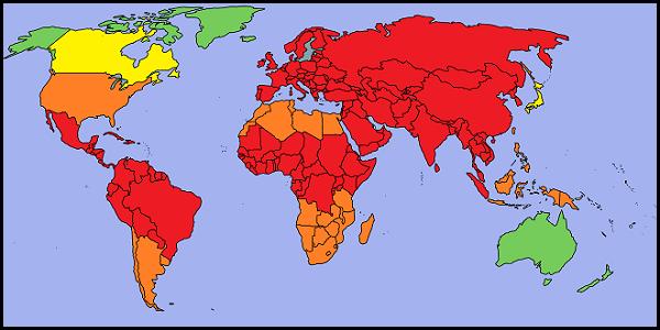 Propagation mondiale du virus Dezjdf10