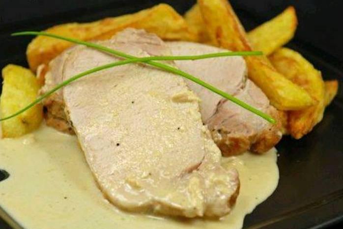 Rôti de porc sauce au camembert Saveurs normandes avec le cidre et le camembert... 29791310