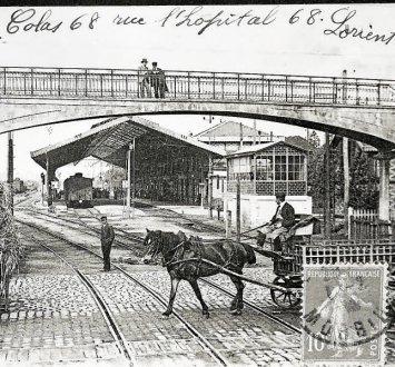 La gare de Lorient, avant-guerre, rue Edouard-Beauvais Dans-l10