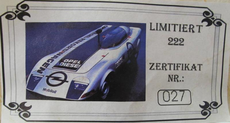 OPEL GT Diesel Rekord Wagen  in 1:25 0110