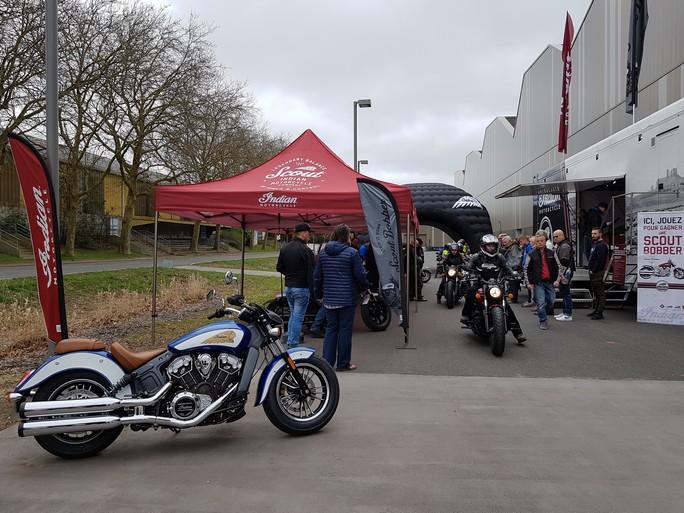 ROAD SHOW INDIAN à St Brieuc avec Breizh Riders 20180416