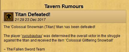 First personal seasonal titan secure in game - 23 December 2017 Cucu_110
