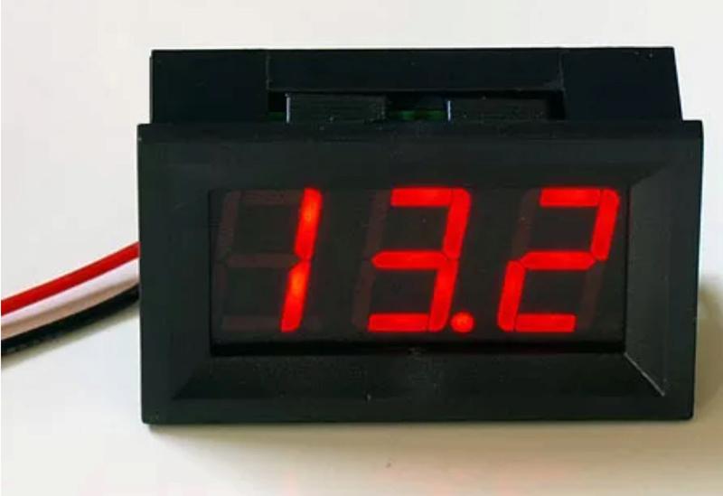 Installing a voltmeter F6560c10