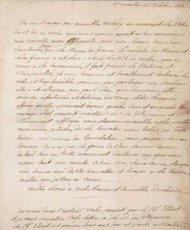 Ecrits du comte Hans Axel von Fersen Sans_t10