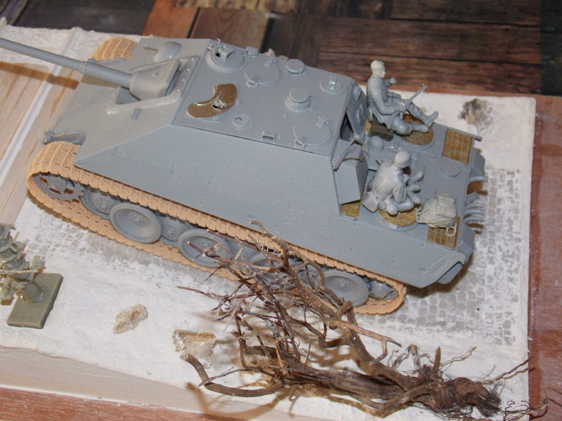 Jagdpanther, Fallschirmjäger et décor perso (Dragon 1/35) Dscn5828