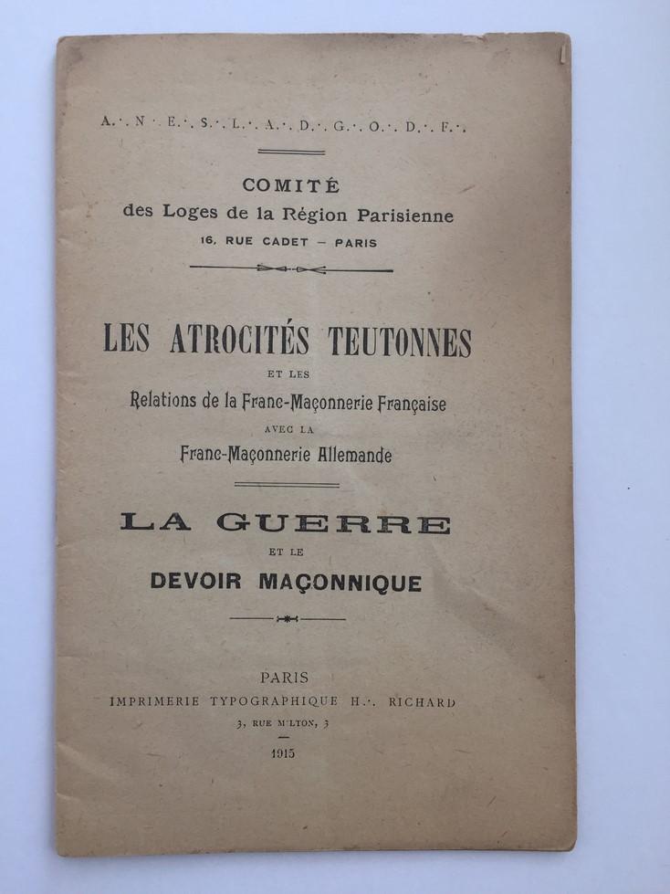 Ouvrage de la franc maçonnerie sur les atrocités teutonnes daté de 1915 Img_e211