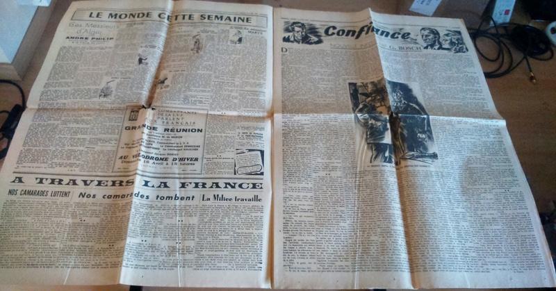 """Journaux et affiche  """"Combats"""" Milice française Dsc_0326"""