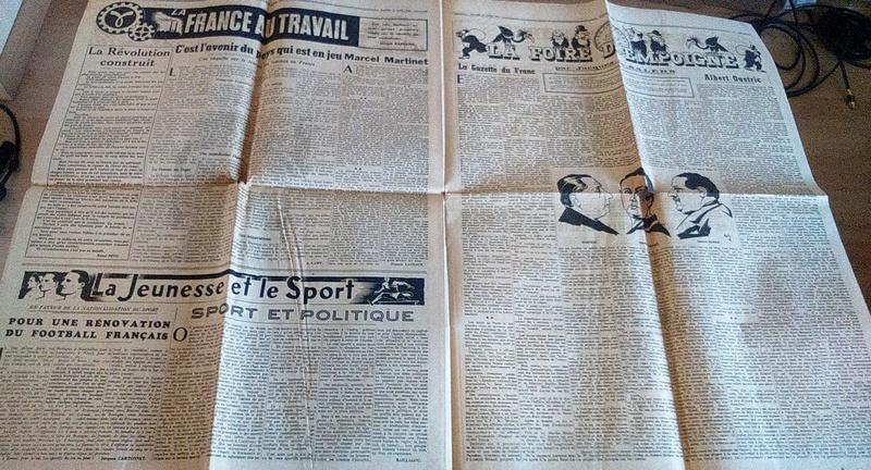 """Journaux et affiche  """"Combats"""" Milice française Dsc_0327"""
