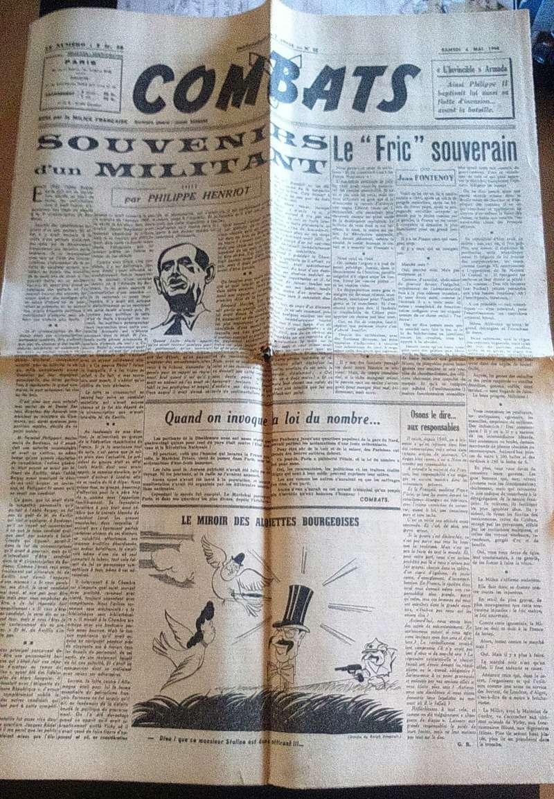 """Journaux et affiche  """"Combats"""" Milice française Dsc_0329"""