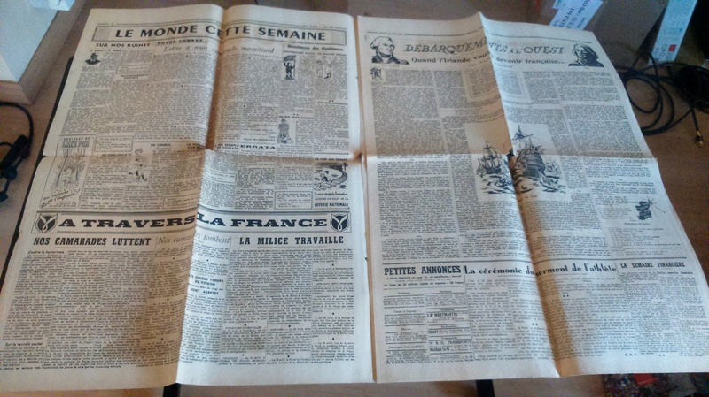 """Journaux et affiche  """"Combats"""" Milice française Dsc_0330"""