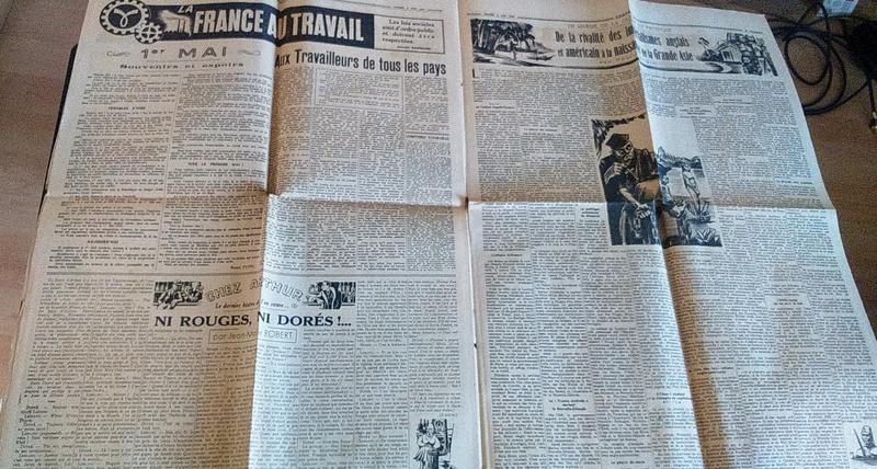 """Journaux et affiche  """"Combats"""" Milice française Dsc_0331"""
