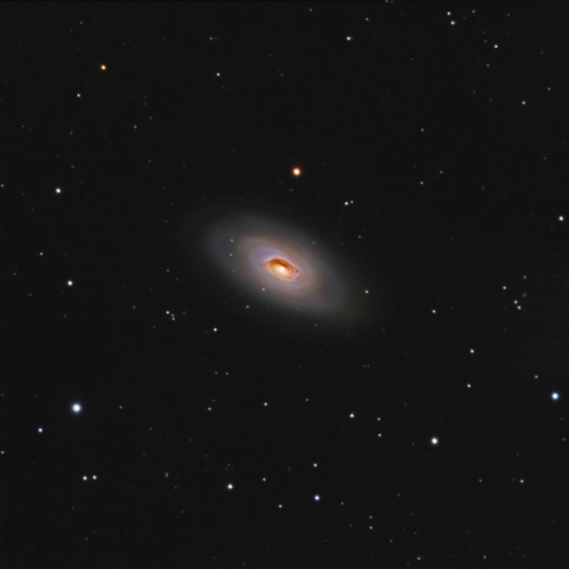 La galaxie de l'œil noir-M64 C8EdgeHd f/10 2m de focale, Atik4000M. Lrvb2310