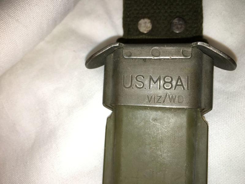 """Fourreau USM8 avec marquage rare """"VIZ/WD"""" 14-01-14"""