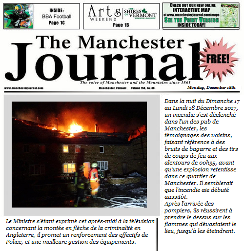 Edition du Manchester Journal Editio10