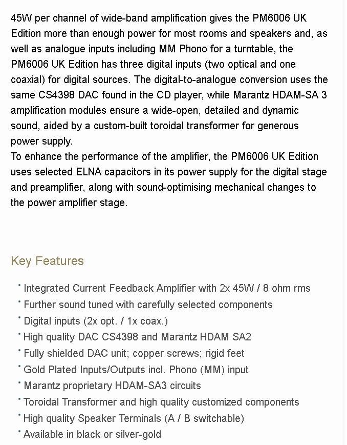 Marantz PM6006 da Amazon UK (Home AV Direct) - Pagina 2 2017-110