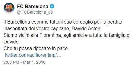 [RIP] Davide Astori | Il Capitano della Fiorentina muore a 31 anni. Barce10