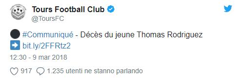 [RIP] Thomas Rodriguez   Altro calciatore 19enne muore d'infarto. Tu10