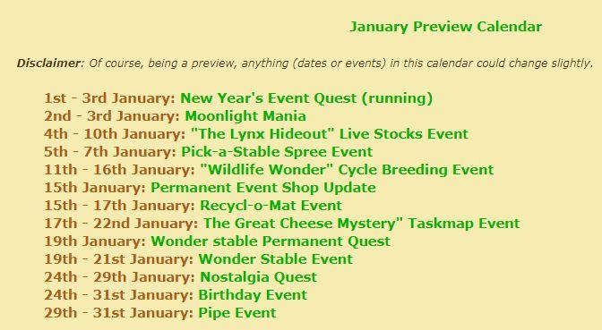 preview calendar March Januar10