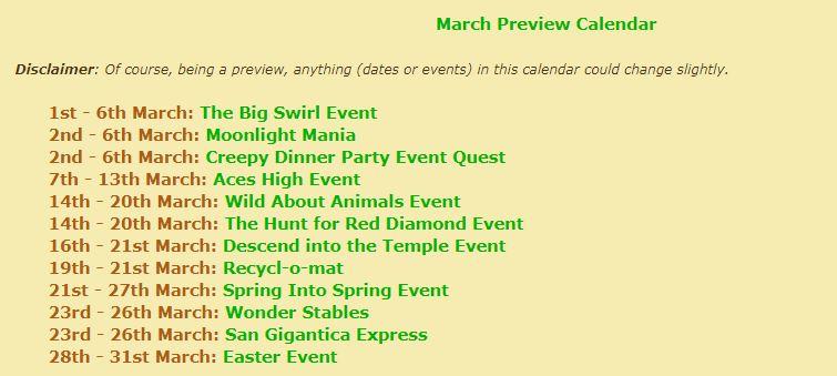 preview calendar March Maart10