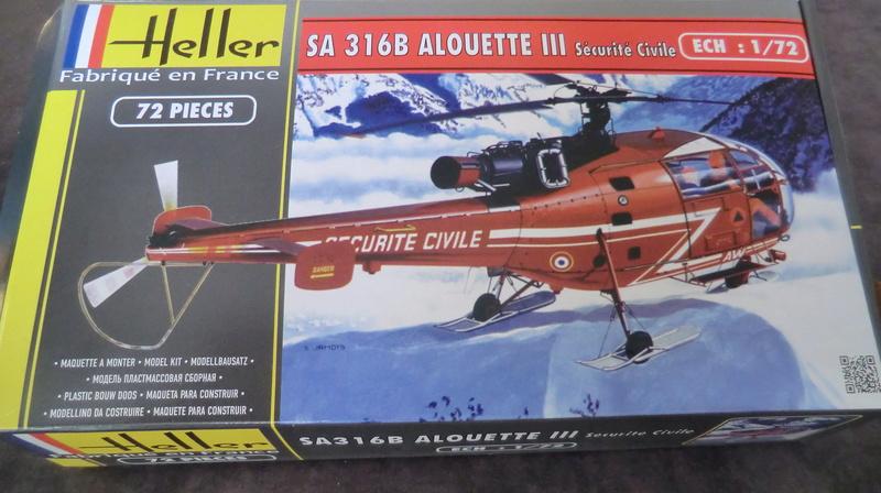 montage Alouette III sécurité civile Heller 1/72 Alouet14