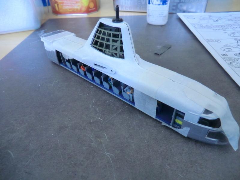 montage d'un Fairey rotodyne 1/78 Revell F-roto52